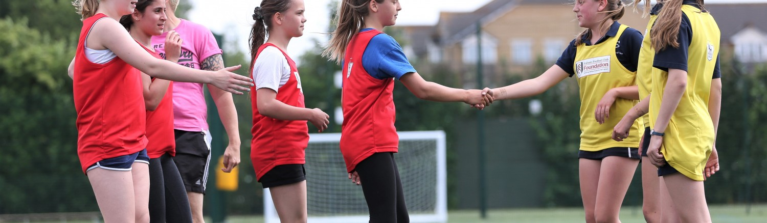 Girls festival of sport, at Southfields Academy -------------------- Jed Leicester / BPI Fulham FC Foundation Feature - 26/6/2015 Southfields Academy, 333 Merton Road, London, United Kingdom 26 June 2015 ©2015 Jed Leicester / BPI all rights reserved
