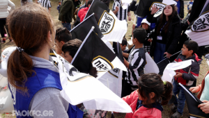 Morethanfootball refugee focus day paok