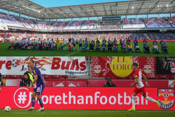Red Bull Salzburg LED boards and mascots
