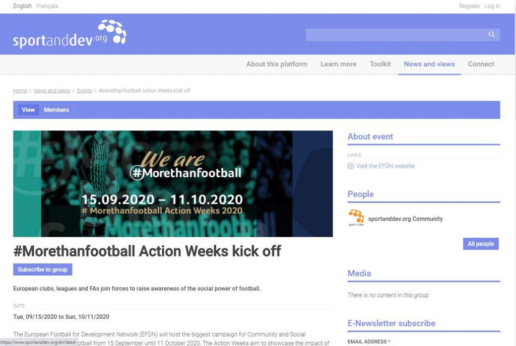 SportandDev.org 15/09/2020