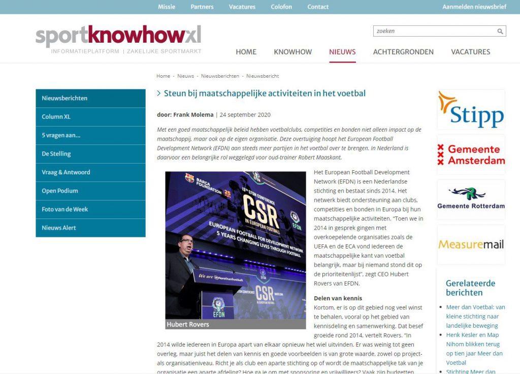 SportKnowHowXL.nl 24/09/2020